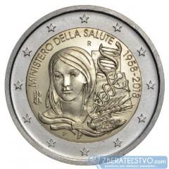 Taliansko 2 Euro 2018 - 60. výročie založenia Talianskeho ministerstva zdravotníctva