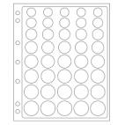Náhradné listy ENCAP do albumov GRANDE - na obehové euromince v kapsuliach