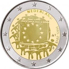Holandsko - 2 Euro 2015 - 30. výročie vlajky EU