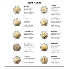 Farebné medzilisty do albumov NUMIS na pamätné 2 Euro mince - 10 mincí na stranu