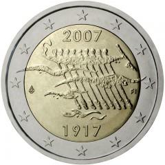 Fínsko - 2 Euro 2007 - 90. výročie nezávislosti Fínska