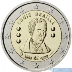Belgicko - 2 Euro - 2009 - 200. výročie narodenia Louisa Brailla