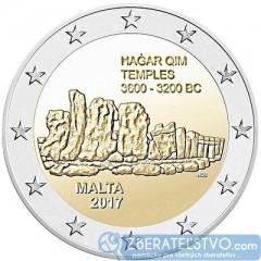 Malta - 2 Euro 2017 - Chrám Hagar Qim