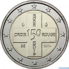 Belgicko - 2 Euro 2014 - Červený kríž