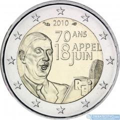 Francúzsko - 2 Euro 2010  - Charles de Gaulle