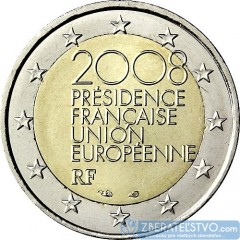 Francúzsko - 2 Euro 2008 - Francúzske predsedníctvo Rade EU