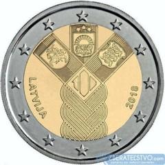 Lotyšsko - 2 Euro 2018 - 100 rokov nezávislosti pobaltských krajín - predpredaj